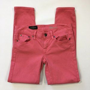 Garment-dyed skinny jeans...